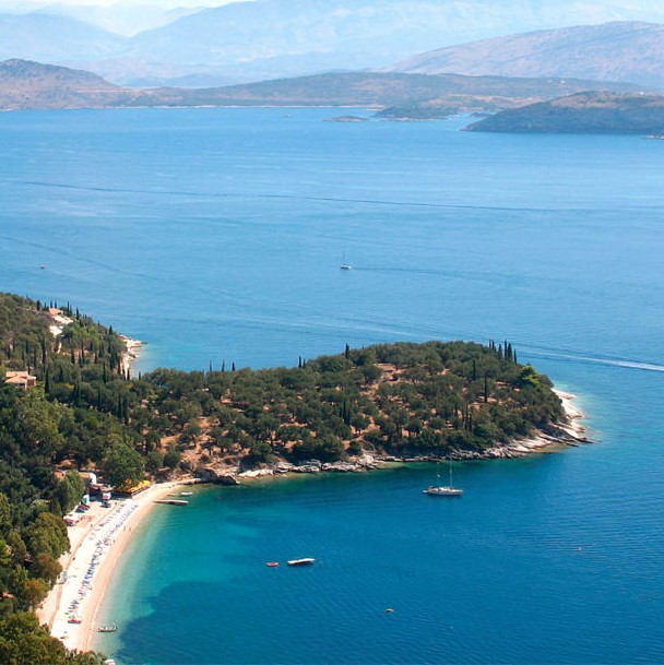 Kerasia Beach on Corfu